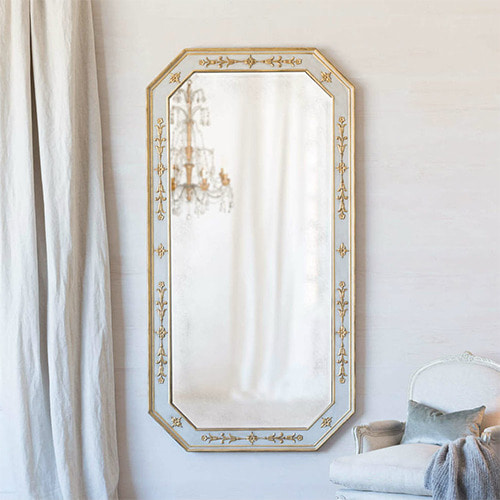 Eloquence® Grande Tulipe Mirror in Chalk Grey and Gold Finish*