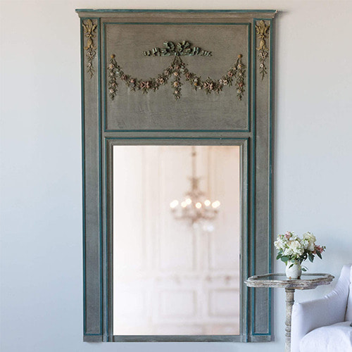 Eloquence® Antique Trumeau Mirror in Teal and Gray*